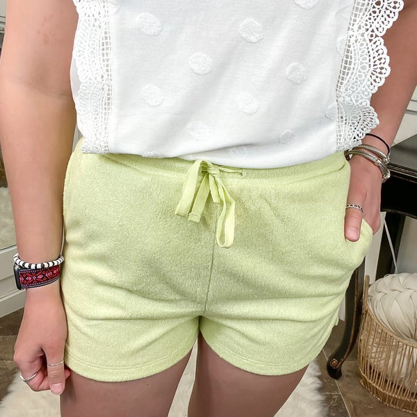 Sage Green Soft Knit Shorts