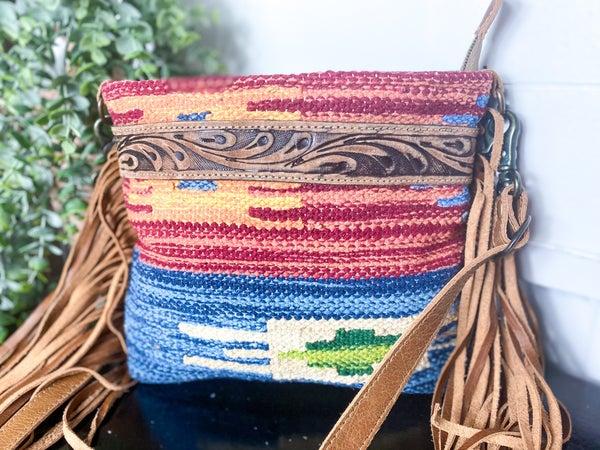 Myra Sunset Hand-Toolded Bag