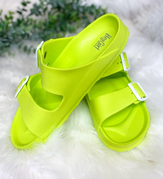 Corkys Waterslide Sandal Lime