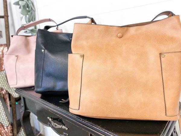 Tassel Pocket Shoulder Bag w/ Crossbody