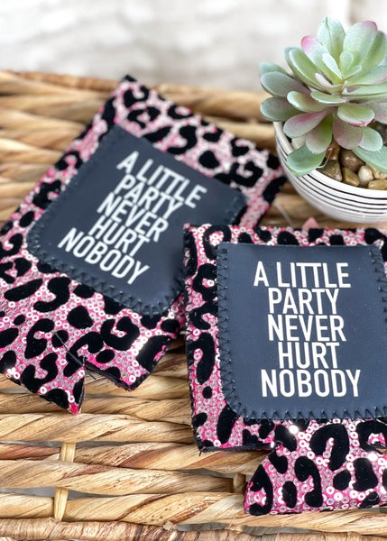A Little Party Never Hurt Nobody Sequin Can Cooler