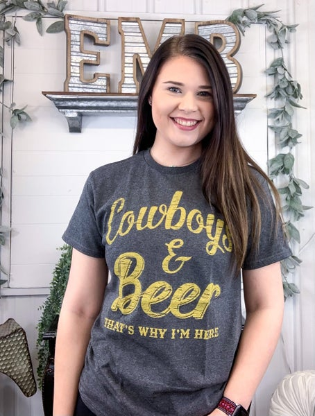 Cowboys & Beer T-Shirt - ALL SALES FINAL