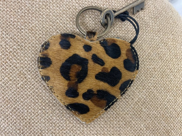 Myra Antique Heart Shaped Keychain
