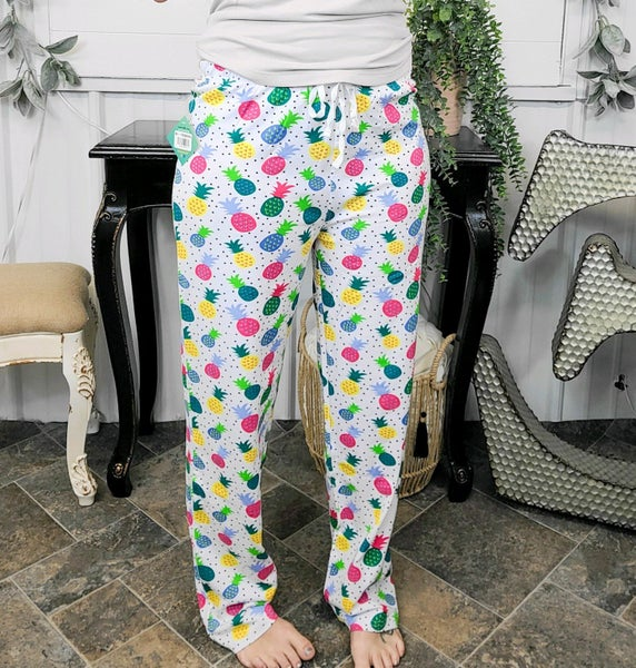 Colorful Pineapple Lounge Pants (ONLINE ONLY)*