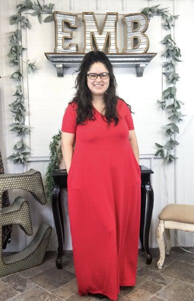 Ruby V-Neck Maxi Dress *ONLINE ONLY*