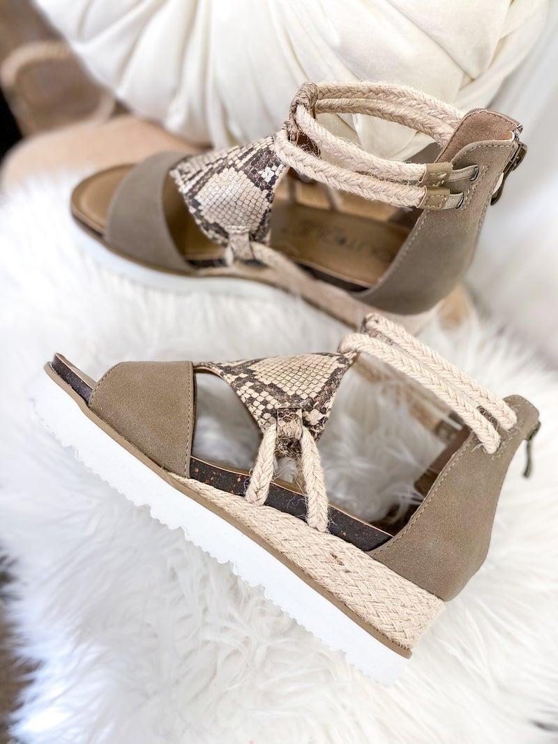 Corkys Browning Taupe Sandal