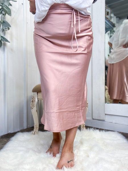 Misty Rose Midi Skirt