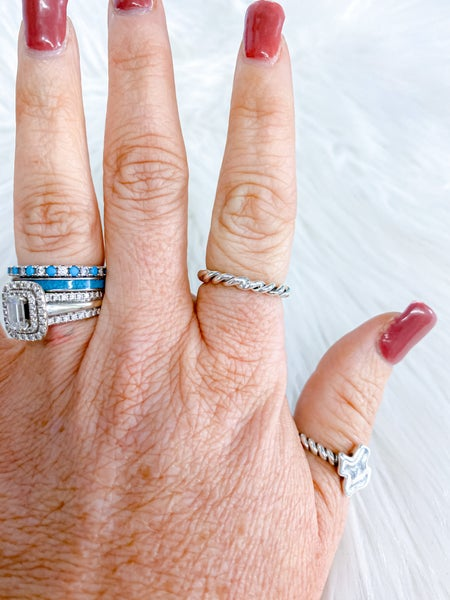 Sterling Silver Cable Stacker Ring {ONLINE ONLY}*