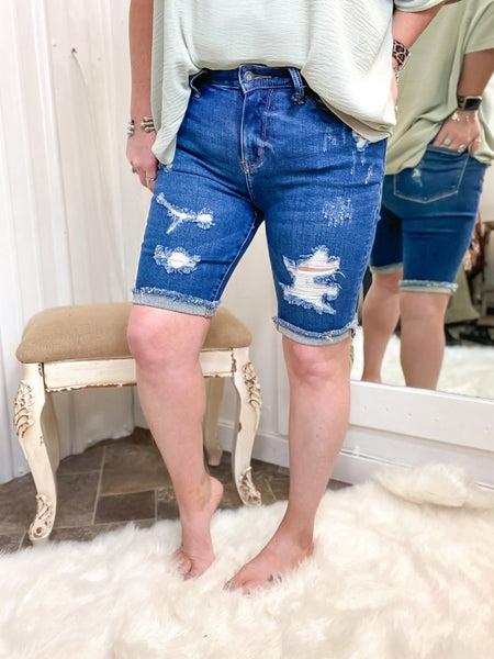 Judy Blue High Rise Bermuda Shorts - JB150045**