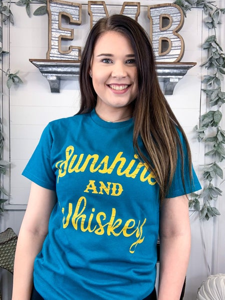 Sunshine & Whiskey T-Shirt {ONLINE ONLY}*