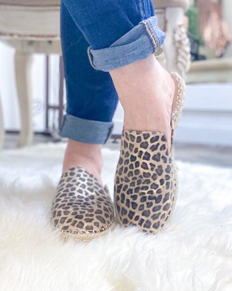 Corkys Taffy Metallic Leopard Mule