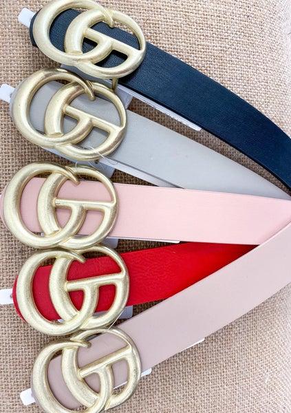 Faux Leather Fashion Belt