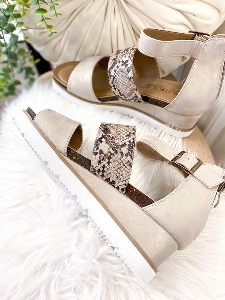 Corkys Livingston Silver Sandal