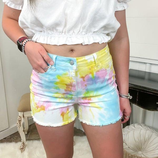 Judy Blue Tie Dye Shorts - JB150082 (ONLINE ONLY)*