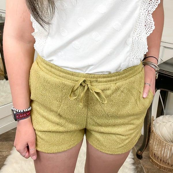 Golden Lime Soft Knit Shorts