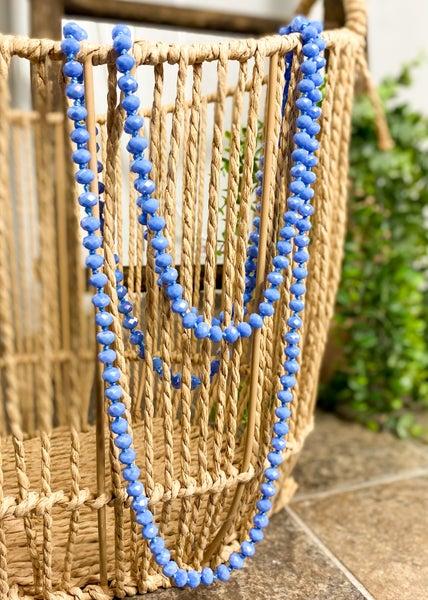 Cornflower Crystal Bead Necklace