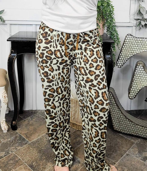 Mocha Leopard Print Lounge Pants