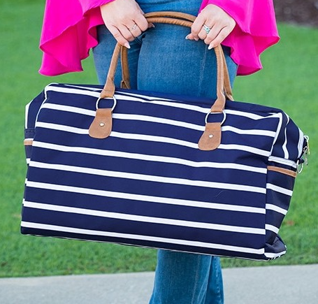 Navy Stripe Travel Bag