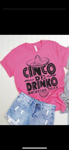 Cinco De Drinko Graphic T-Shirt