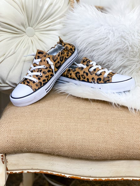 Bronze Leopard Canvas Sneaker