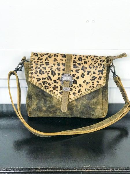 Myra Swish Leather & Hairon Bag