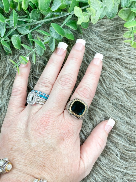 Black Cable Cocktail Ring