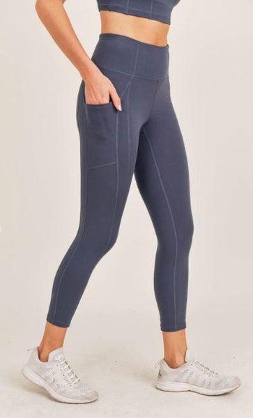 Blue Essential Pocket Leggings
