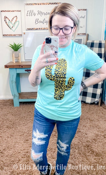 Cactus Leopard T-Shirt {ONLINE ONLY}*