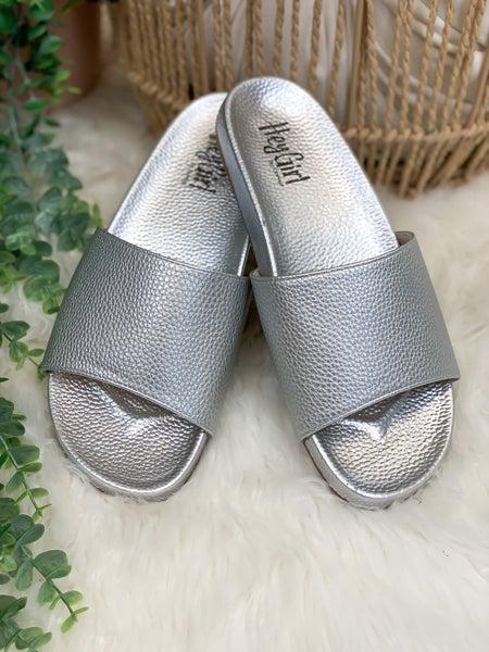 Corkys Backyard Sandal - Silver - ALL SALES FINAL -
