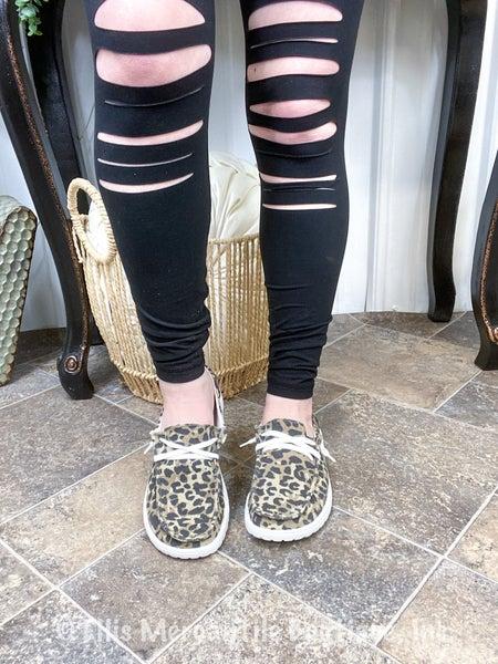 Gypsy Jazz Leopard Print Boat Shoe
