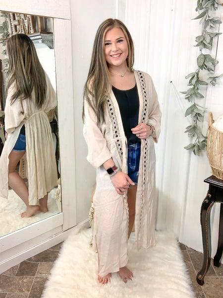 Natural Slub Gauze Kimono (ONLINE ONLY)*