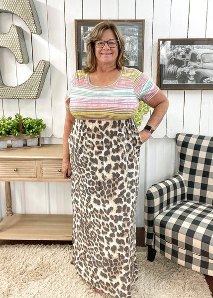 Colorful Stripes & Animal Print Maxi ALL SALES FINAL