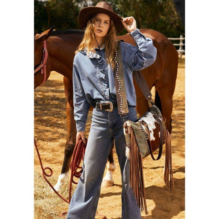 Myra Dangle Wangle Leather & Hairon Bag