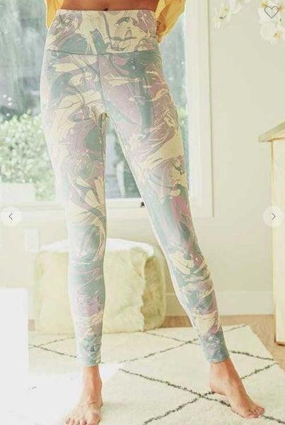 Mint Palette Abstract High Waist Leggings