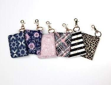 Olivia Moss ID Card Wallet Keychain