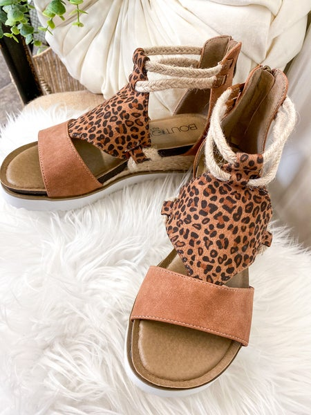 Corkys Browning Small Leopard Sandal