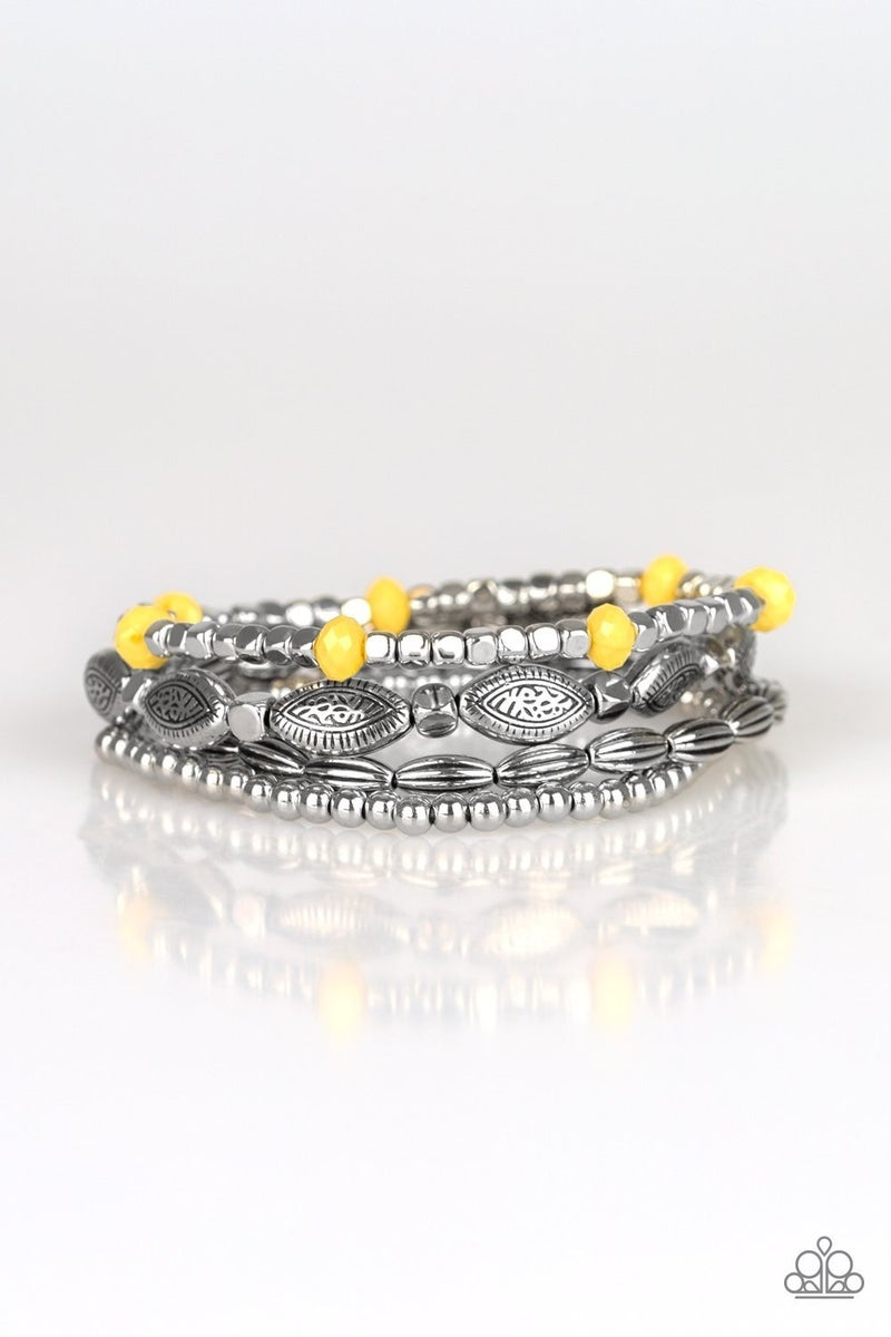 Full Of WANDER- Yellow and Silver
