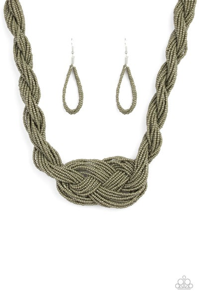 A Standing Ovation – Paparazzi – Twisted and Knotted Olive Green