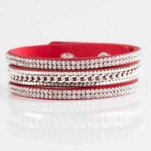 Unstoppable - Red Wrap Bracelet