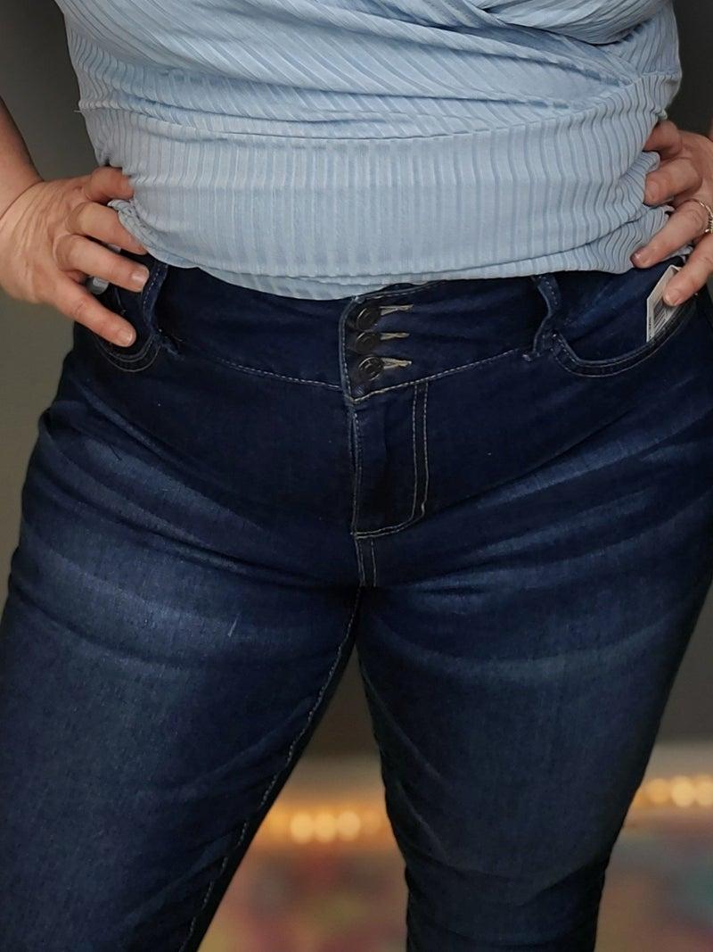 Curvy 3 Button High Waist Skinny Jeans