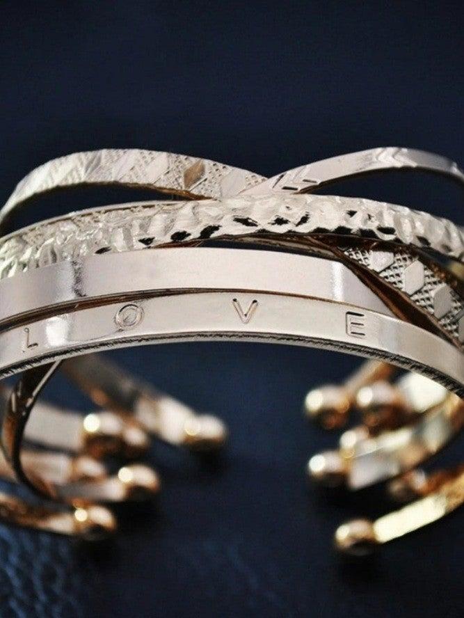 Six Piece Gold Plated Bracelet Set *Final Sale*