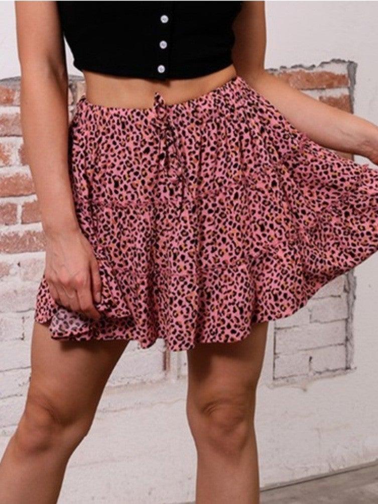 Juniors Tiered Mini Skirt