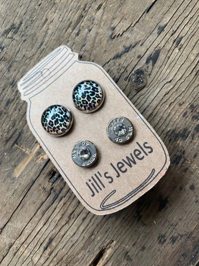 Bullet Shell Stud Earring Set