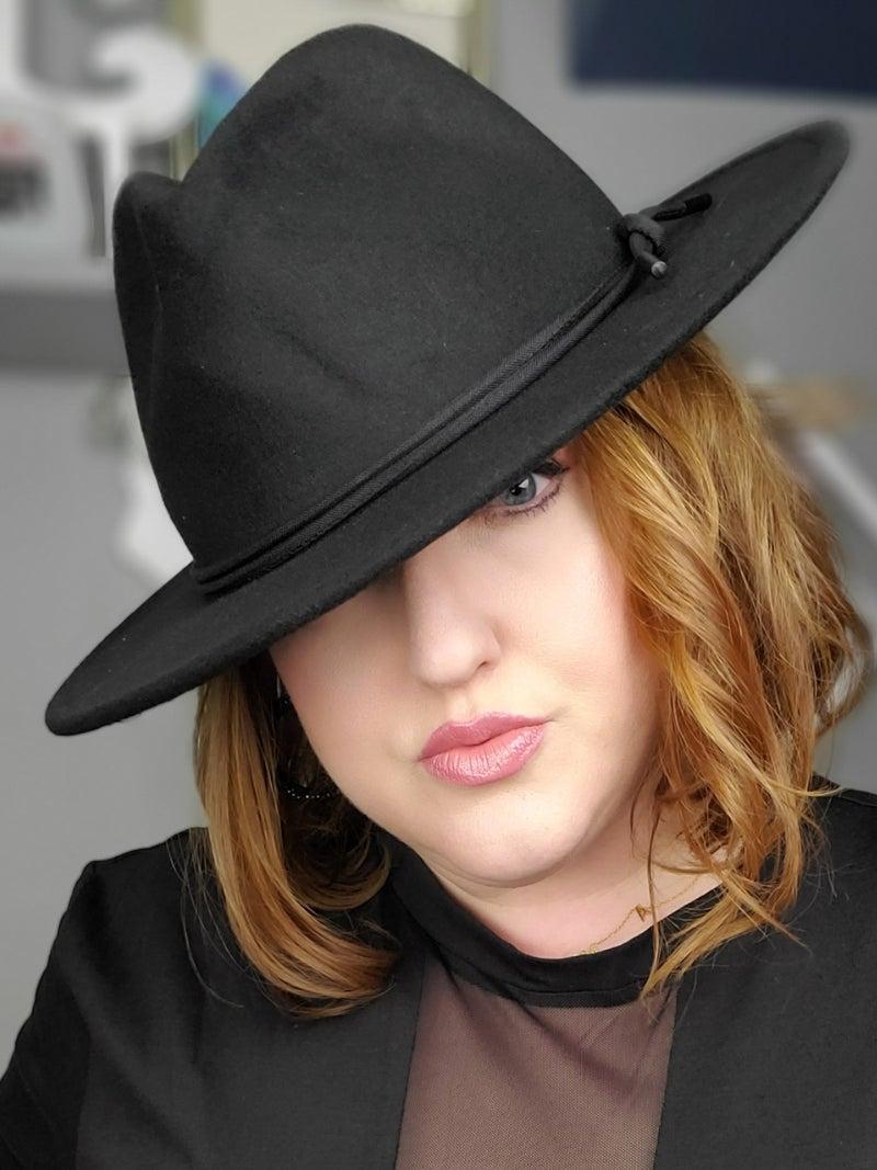 Black Fedora Hat *Final Sale*