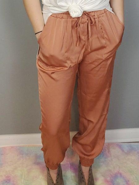 Harem Drawstring Waist Slant Pocket Pants *Final Sale*