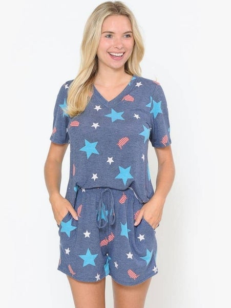 USA Pajama Short Set