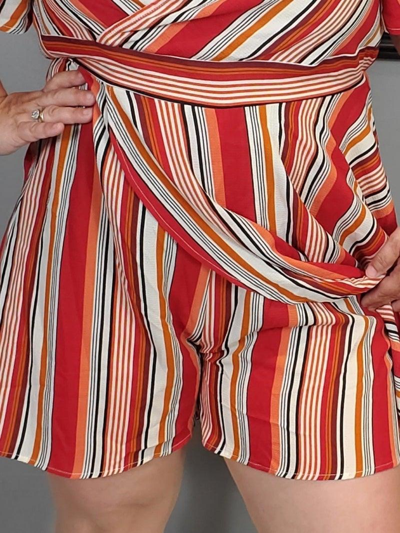Curvy Striped Romper