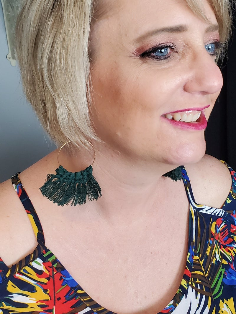 Large Macrame Earrings
