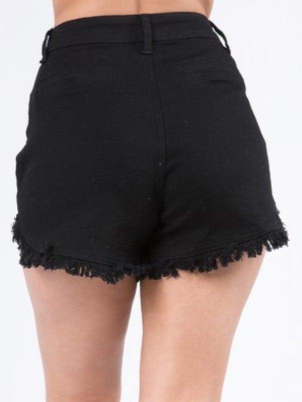 Juniors High Waist Denim Shorts