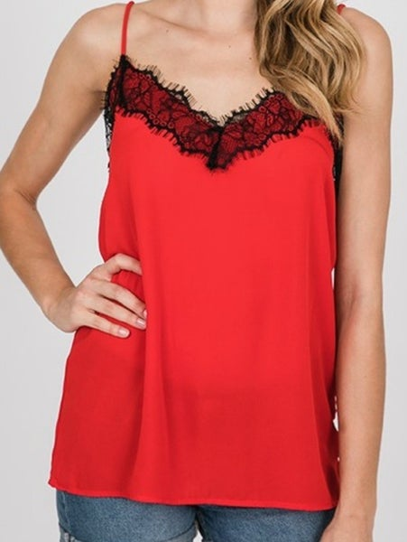 Lace Trimmed Cami